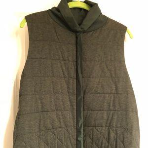 NWT Lafayette 148 reversible army green vest sz sm